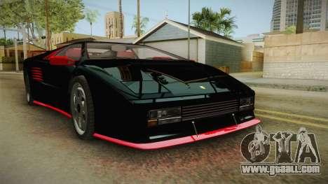 GTA 5 Pegassi Infernus Classic IVF for GTA San Andreas back left view