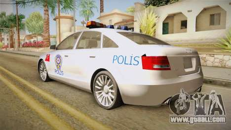 Audi A6 Turkish Police for GTA San Andreas left view