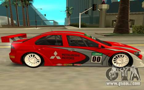 Mitsubishi Lancer for GTA San Andreas left view