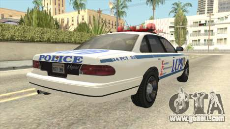 GTA 4 Police Stanier SA Style for GTA San Andreas back left view