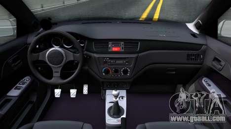 Mitsubishi Lancer Evolution IX for GTA San Andreas inner view