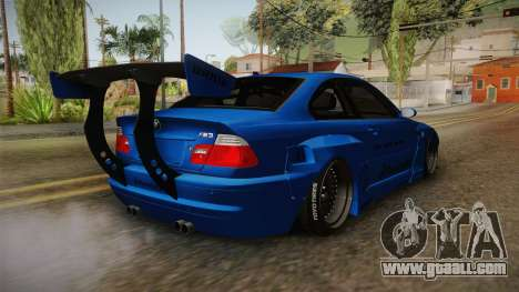 BMW M3 E46 Liberty Walk Pandem Livery for GTA San Andreas right view
