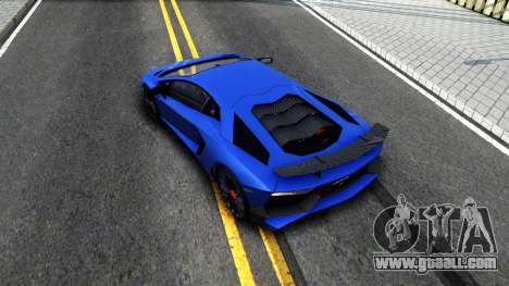 Lamborghini Aventador SV 2015 for GTA San Andreas back view