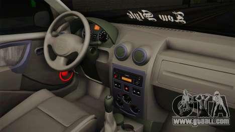 Dacia Logan Low Style for GTA San Andreas inner view