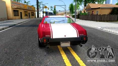 Sabre Turbo GTA 5 for GTA San Andreas back left view