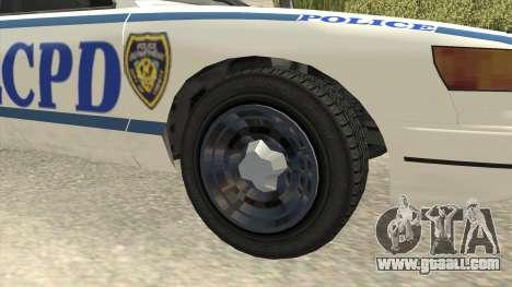 GTA 4 Police Stanier SA Style for GTA San Andreas back view