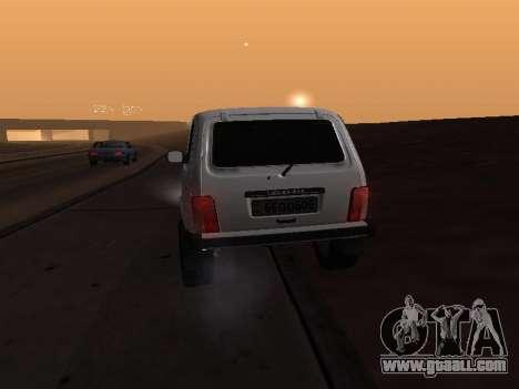 Vaz 2121 Niva Armenian for GTA San Andreas inner view