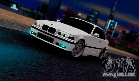 BMW M3 E36 ZLO for GTA San Andreas left view