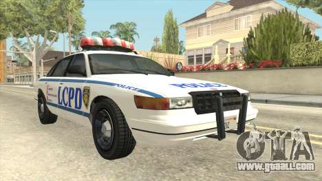 GTA 4 Police Stanier SA Style for GTA San Andreas right view