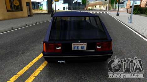 BMW 3-er E30 Touring SA Style for GTA San Andreas back left view