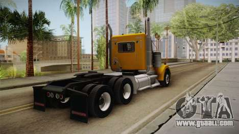 Kenworth W900 ATS 6x2 Middit Cab Low for GTA San Andreas back left view