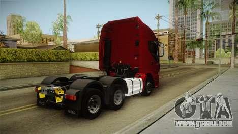 Iveco Stralis Hi-Way 560 E6 6x4 v3.1 for GTA San Andreas back left view