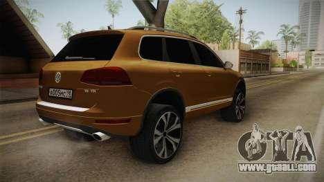 Volkswagen Touareg for GTA San Andreas back left view