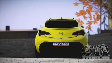Opel Astra GTC for GTA San Andreas back left view