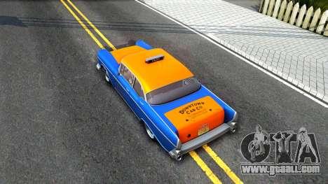 GTA V Declasse Cabbie for GTA San Andreas back view