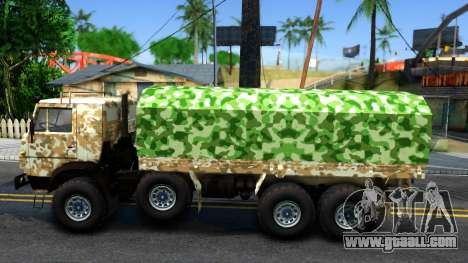 KamAZ 6350 for GTA San Andreas left view