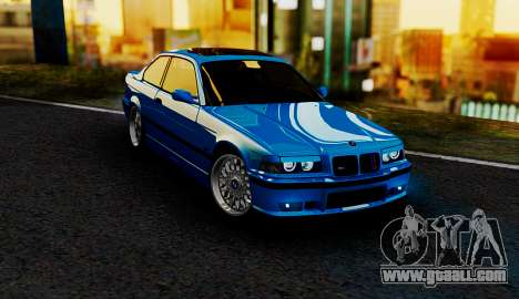 BMW M3 E36 ZLO for GTA San Andreas back view