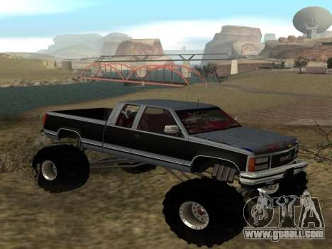 GMC Sierra 2500 Monster 1998 for GTA San Andreas right view