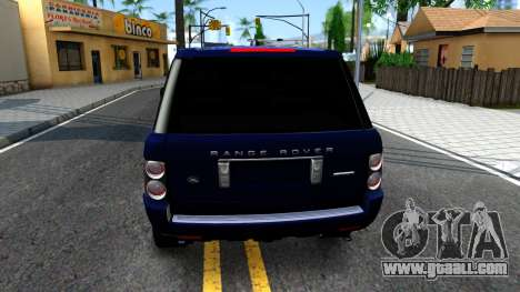 Land Rover Range Rover Supercharged for GTA San Andreas back left view