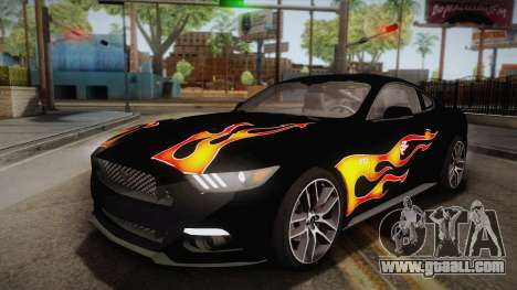 Ford Mustang GT 2015 5.0 PJ for GTA San Andreas side view