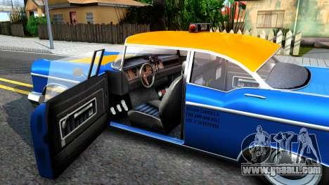 GTA V Declasse Cabbie for GTA San Andreas inner view