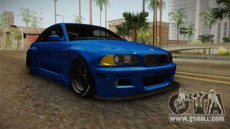 BMW M3 E46 Liberty Walk Pandem Livery for GTA San Andreas