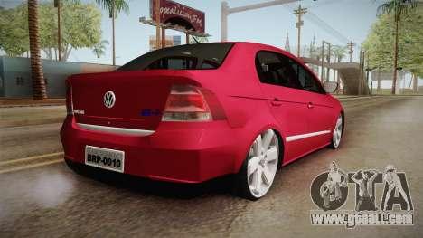 Volkswagen Voyage Fix for GTA San Andreas left view