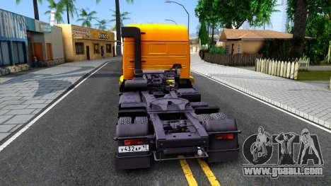 KamAZ 5460 v2 for GTA San Andreas back left view