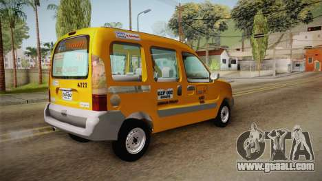 Renault Kangoo Taxi Colombiano for GTA San Andreas left view