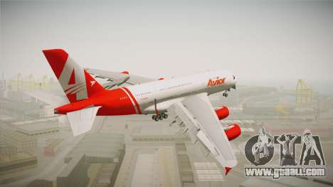 Airbus A380 Avior Airlines for GTA San Andreas left view