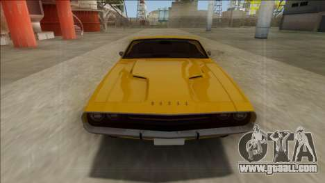 Dodge Challenger Cabrio for GTA San Andreas right view