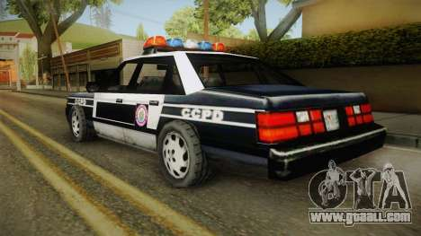 Manhunt (GTA VC) Police CCPD for GTA San Andreas left view