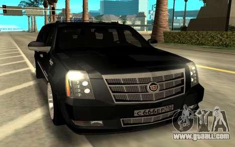 Cadillac Escalade Platinum for GTA San Andreas
