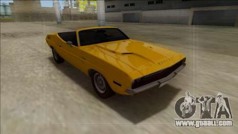 Dodge Challenger Cabrio for GTA San Andreas back view