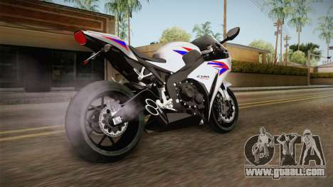 Honda CBR1000RR HRC 2012 for GTA San Andreas left view