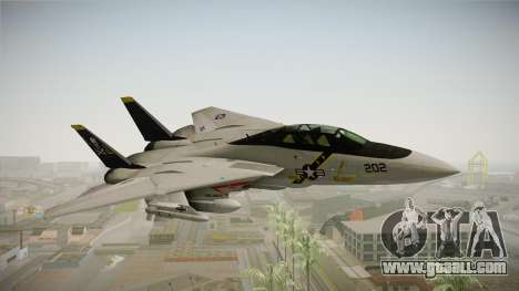 F-14A IRIS for GTA San Andreas back left view