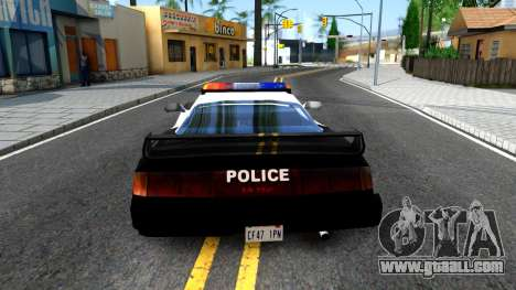 ZR-350 SFPD Police Pursuit Car for GTA San Andreas back left view