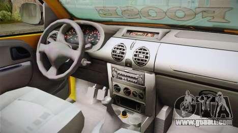 Renault Kangoo Taxi Colombiano for GTA San Andreas back view