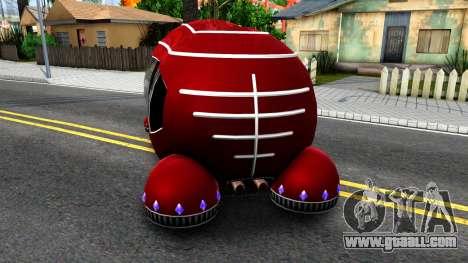Alien Moonbeam for GTA San Andreas back left view