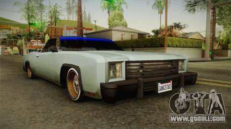 New Buccaneer for GTA San Andreas
