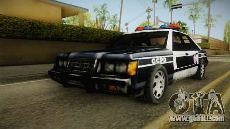 Manhunt (GTA VC) Police CCPD for GTA San Andreas back left view