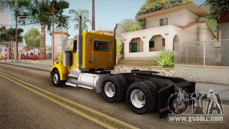 Kenworth W900 ATS 6x2 Middit Cab Low for GTA San Andreas left view
