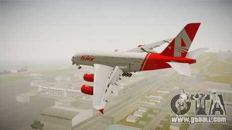 Airbus A380 Avior Airlines for GTA San Andreas right view