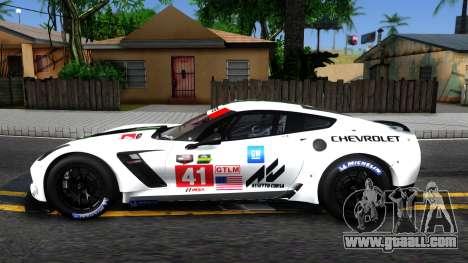 Chevrolet Corvette C7R GTE 2014 for GTA San Andreas left view