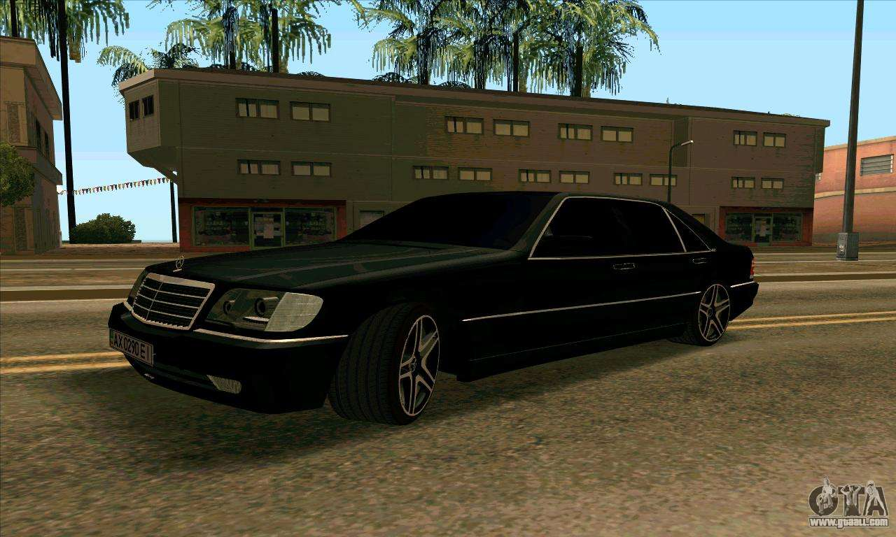 Mercedes Benz W140 S600 For Gta San Andreas