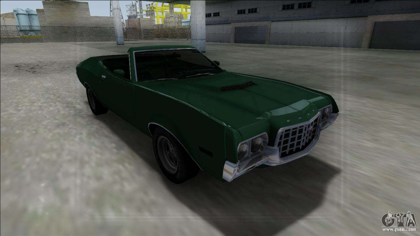 1972 ford gran torino cabrio for gta san andreas. Black Bedroom Furniture Sets. Home Design Ideas