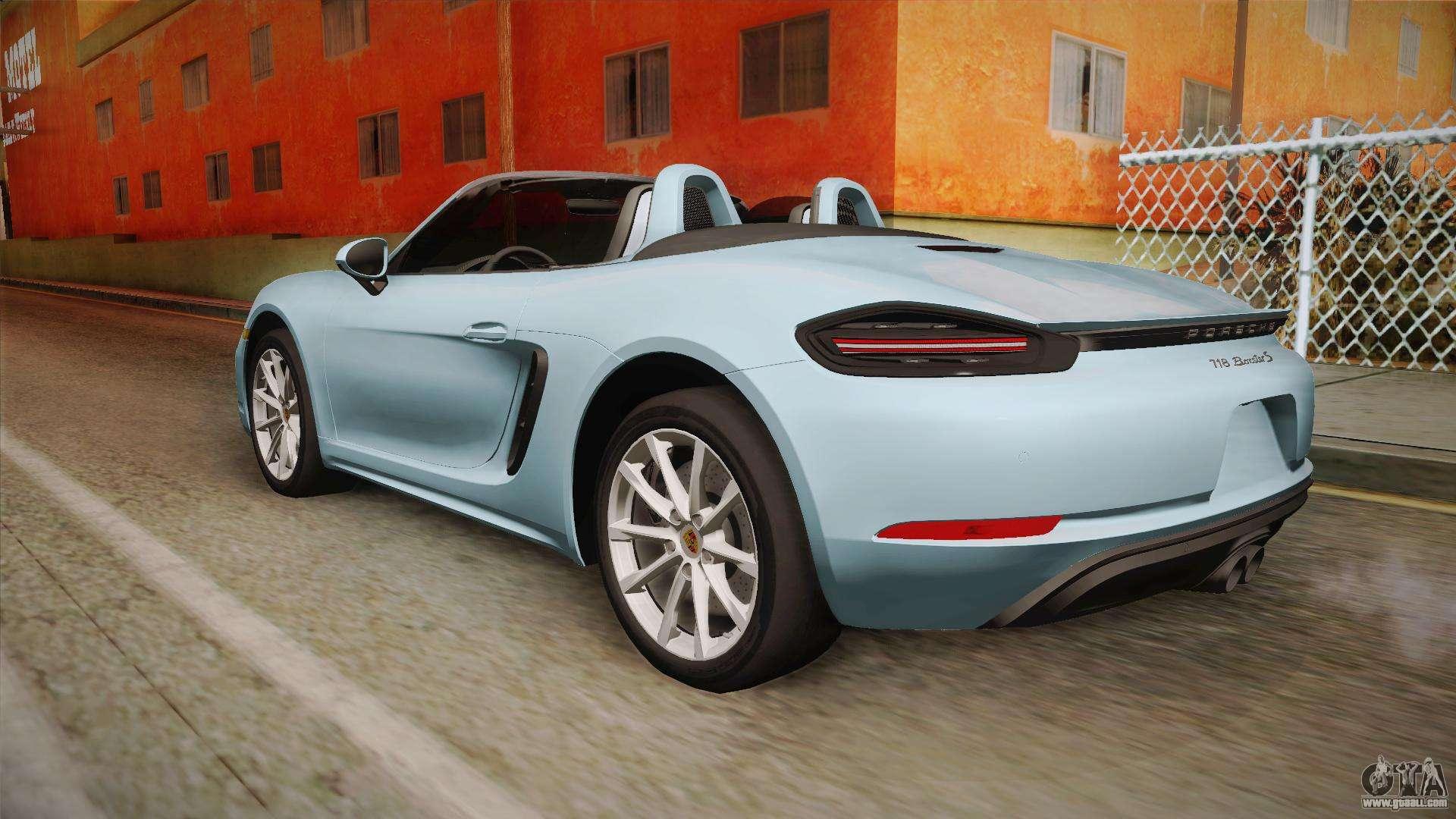 porsche 718 boxster s cabrio for gta san andreas. Black Bedroom Furniture Sets. Home Design Ideas