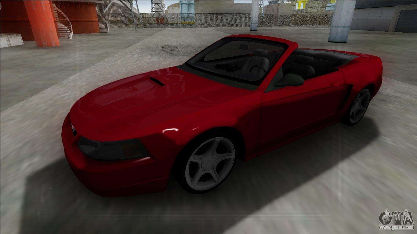 1999 ford mustang cabrio for gta san andreas. Black Bedroom Furniture Sets. Home Design Ideas