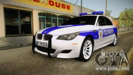 BMW M5 a e60 Police for GTA San Andreas