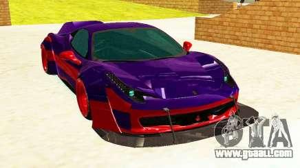 Ferrari F458 Italia DMC for GTA San Andreas